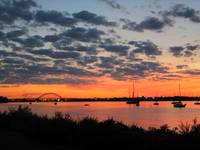 Palmyra Bridge at sunset