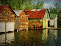 Boathouses on the Torch River