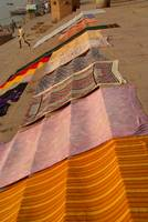 Saris Drying on the Steps