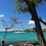 """A Sailboat In Anaehoomalu Bay"" by jameseddy"