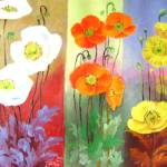 """poppies trio"" by zhenlian"
