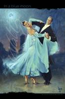 Waltz In a Blue Moon Large Poster