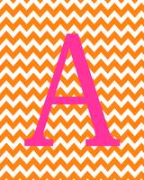 Chevron A Orange Pink