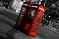 London Red telephones boxes
