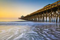 Folly Beach Pier Charleston SC Coast Atlantic Ocea