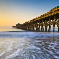 """Folly Beach Pier Charleston SC Coast Atlantic Ocea"" by DAPhoto"