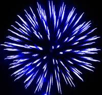 Royal Blue Fire Art Flower Burst