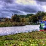 """Narrowboat on River"" by InspiraImage"