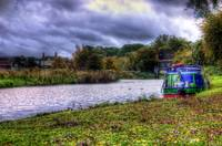 Narrowboat on River