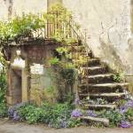 """European Staircase With Flowers"" by marilyndunlap"