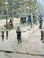Snow Storm, Fifth Avenue by Childe Hassam