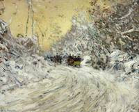 Sleigh Ride in Central Park by Childe Hassam