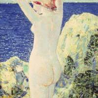 """The Bather by Childe Hassam"" by The Fine Art Masters"
