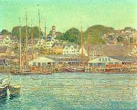 Gloucester Harbour by Childe Hassam