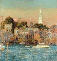 October Sundown, Newport by Childe Hassam