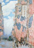 The Fourth of July by Childe Hassam