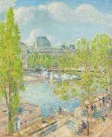 April, Quai Voltaire, Paris by Childe Hassam