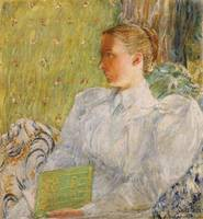 Portrait of Edith Blaney by Childe Hassam