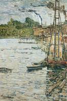 The Mill Pond, Cos Cob, Connecticut by C. Hassam