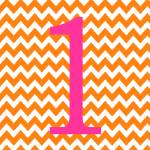 """Chevron 1 Orange and Pink"" by ZeppiPrints"