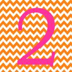"""Chevron 2 Orange and Pink"" by ZeppiPrints"