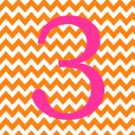 """Chevron 3 Orange and Pink"" by ZeppiPrints"