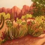 """""""Arizona Desert"""" by ShackPaintings"""