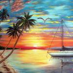 """""""Anchored at Sunset"""" by rileygeddings"""