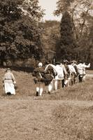 Battersea Troups Marching with woman 2 sepia