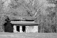 Red Roof Barn bw