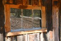 Log Cabin Window Reflections