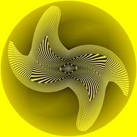 Yellow Omeba (21st Century Op-Art Set)