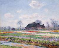 Tulip Fields at Sassenheim, near Leiden by Claude