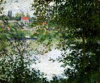 Ile de La Grande Jatte Through the Trees by Claude