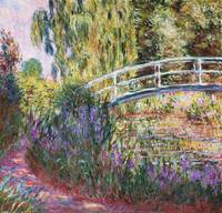 The Japanese Bridge, Pond with Water Lilies by C.
