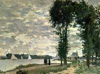 The Banks of the Seine at Argenteuil by Claude Mon