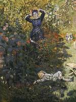 Camille and Jean in the Garden at Argenteuil by C.