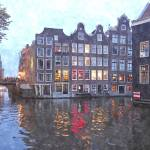 """Canal houses in Amsterdam, Holland"" by BillKret"