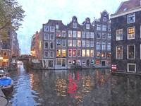 Canal houses in Amsterdam, Holland