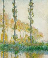 The Three Trees, Autumn by Claude Monet