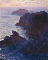 Rocks at Bell-Ile, Port-Domois by Claude Monet