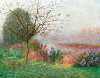 October Morning on the River Lys by Emile Claus