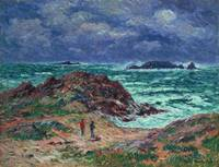 A Squall, Finistere by Henry Moret