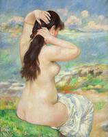 Bather Arranging Her Hair by Pierre Auguste Renoir