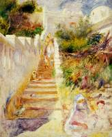 The Steps, Algiers by Pierre Auguste Renoire