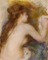 Rear view of a nude woman by Pierre Auguste Renoir
