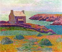 A Cottage in Brittany by Henry Moret