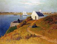 View of Lorient, Brittany by Henry Moret