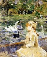 Young Girl Boating by Berthe Morisot