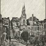 """San Francisco street from Telegraph Hill."" by vladimirrayzmanphotoart"